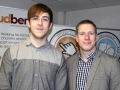 L-to-R: Louis Mason, University of Birmingham; Mark Ellerby, Cloudberry