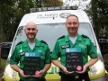 St John Ambulance Emergency Medical Technicians, (L-to-R) Kieran Harrison and Daniel Pierce