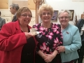 Jacky Lynam, Upcycle Birmingham volunteer, with ProjectDirector Judy Tullett and Lynda Clinton, TRA Board Member
