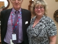 Jon Bygrave, Partnership Manager for the DWP, with Diane Ford, Community Outreach Work Coach for the DWP