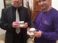 Lay Minister Peter Murphy with Michael Wootton of Upcycle Birmingham