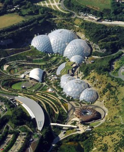 The Eden Project from the air