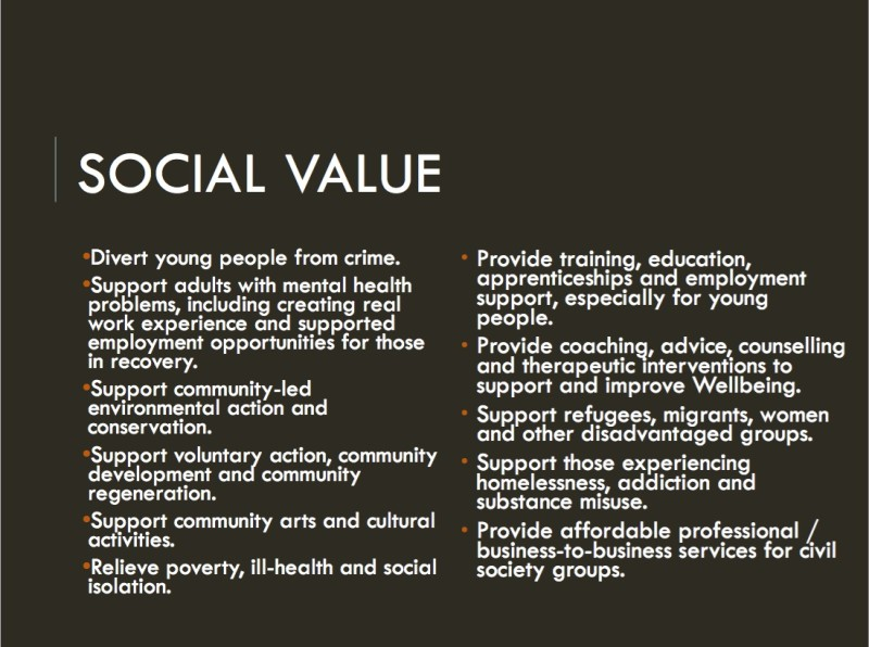 Social value priorities - Digbeth