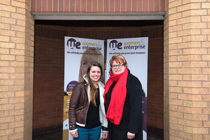 Sarah Crawley and Marija Sakalauskaite from ISE at the new premises