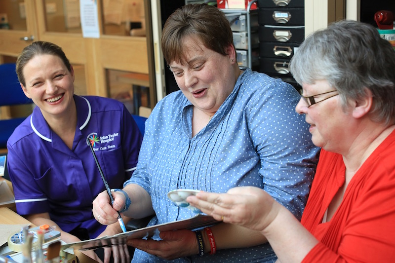 L-to-R: Complementary therapist Jo Dorling, Cat Mackrill and her partner Sue Sherriff