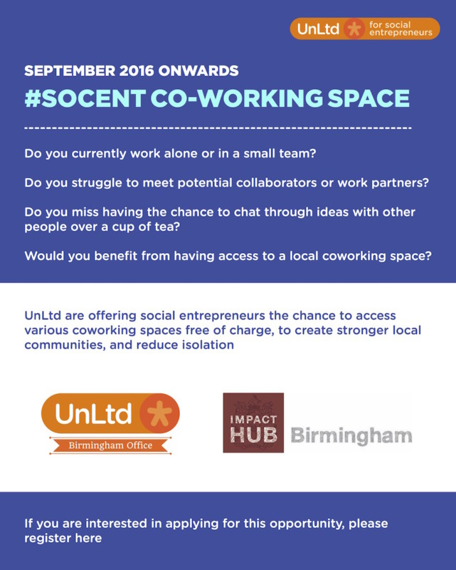 socent Co-working space - flyer